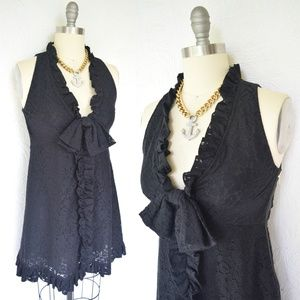 Marc by Marc Jacobs black lace mod baby doll dress